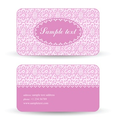Lacy card vector image vector image