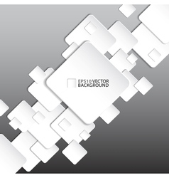 Paper square banner on grey background vector image