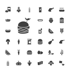 33 nutrition icons vector