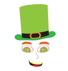 Abstact avatar of a happy irish elf vector