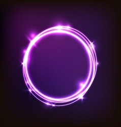 Abstract glowing purple background with circles vector image