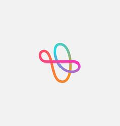 Abstract linear motion logo icon design modern vector