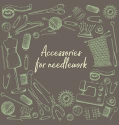 accessories for needlework vector image