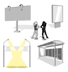Advertising constructions vector