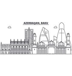 azerbaijan baku line skyline vector image