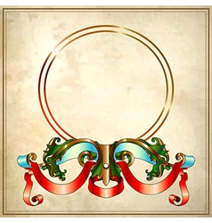 baroque frame on old paper background EPS10 vector image