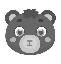 bear muzzle icon in monochrome style isolated on vector image