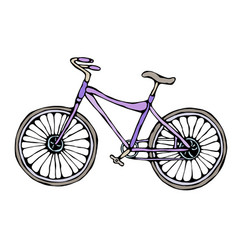 Bicycle or bike realistic vector