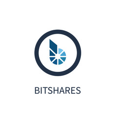 bitshares cryptocurrency icon vector image