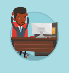 business man feeling stress from work vector image