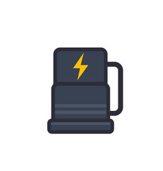 car charging station icon flat style vector image