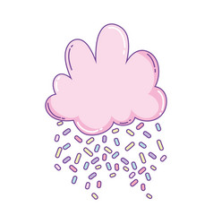 Cloud with candy topping vector