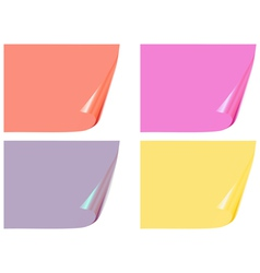color bent pages vector image