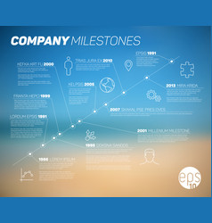 company timeline infographic template vector image