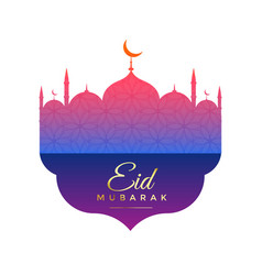 Creative mosque design for eid festival vector