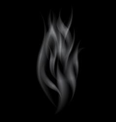 delicate white realistic cigarette smoke waves vector image