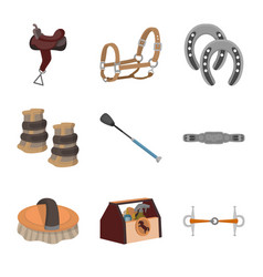 Design of horseback and equestrian icon vector