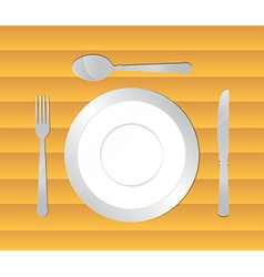 Dining table background vector