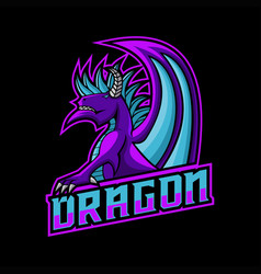 dragon gaming logo vector image