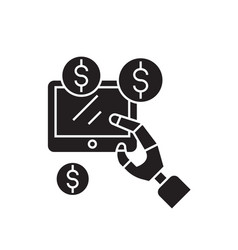 earnings online black concept icon vector image