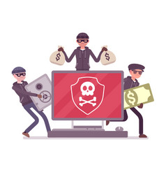 electronic theft danger vector image