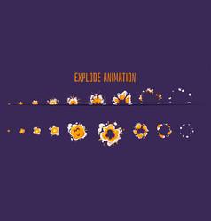 Explode effect burst sprites vector
