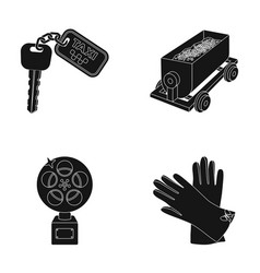 Fashion service and or web icon in black style vector