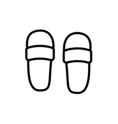 flip flop icon sandals footwear sign vector image