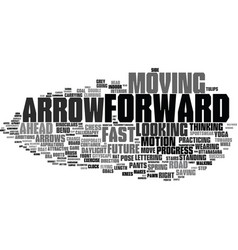 forward word cloud concept vector image