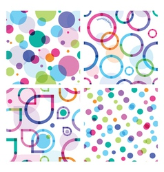 four bright seamless patterns vector image