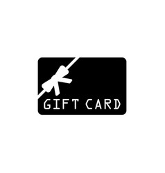 gift card flat icon vector image