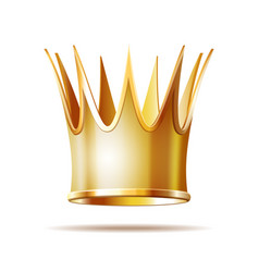 golden princess crown isolated on white vector image