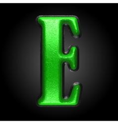 green plastic figure e vector image