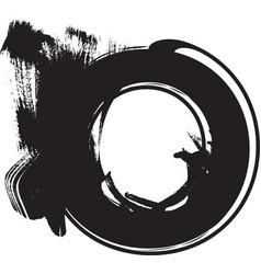grunge font letter o vector image