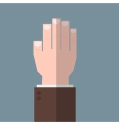 Hand up flat icon vector image