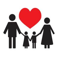 Happy family love vector image