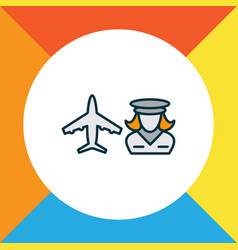 hostess icon colored line symbol premium quality vector image