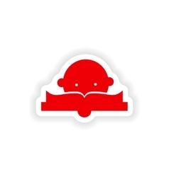 Icon sticker realistic design on paper lesson vector