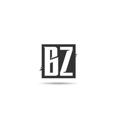initial letter bz logo template design vector image