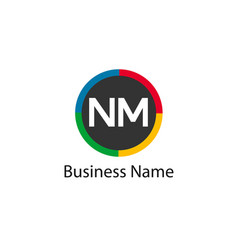 Initial letter nm logo template design vector