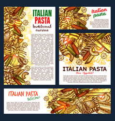italian pasta and lasagna vector image