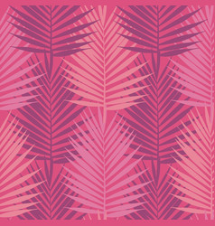 living coral tropical palm leaves seamless vector image