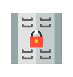 Locker icon storage compartment flat style vector