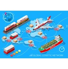Logistic Icon 03 Vehicle Isometric vector image