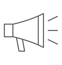 loudspeaker thin line icon contact us bullhorn vector image