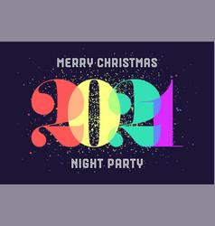 merry christmas 2021 greeting card vector image