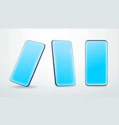 Modern smartphone layered mock-up in trendy 3d vector