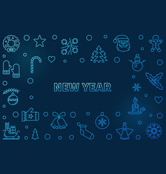 new year blue horizonta background in vector image
