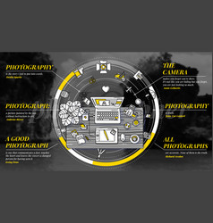Photographer - promotional with text vector