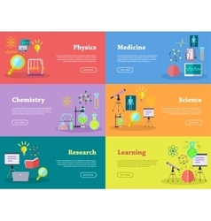 Physics Chemistry Medicine Science Learn Research vector image